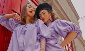 Sao Việt mặc tông tím đa dạng