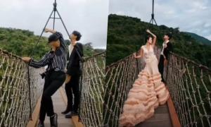 Nhiếp ảnh gia giả vờ làm cô dâu để gợi ý cách tạo dáng
