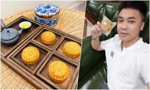 Bạn trai khoe bánh Trung thu do Hòa Minzy làm