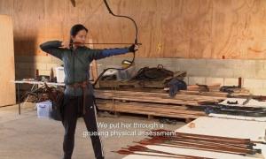 Lưu Diệc Phi tập võ cho 'Hoa Mộc Lan'