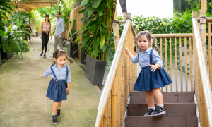 Con gái Hà Anh tham quan trường mẫu giáo