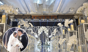 Tiệc cưới 'rừng lan pha lê' giữa lòng Hà Nội