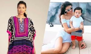 Phạm Hương chăm hoạt động người mẫu dù sang Mỹ sinh con