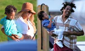 Vợ chồng Beyonce đưa cặp song sinh đi du thuyền