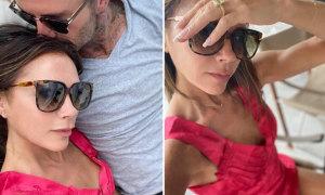 Vic hiếm hoi chia sẻ ảnh tình cảm với chồng