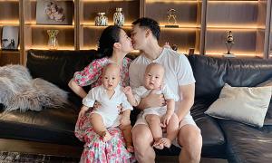 Cuộc sống bỉm sữa của bà xã MC Thành Trung