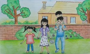 Ước mơ gia đình hạnh phúc qua tranh vẽ