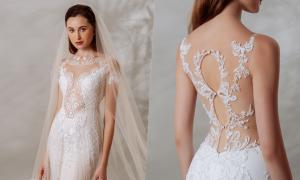 Váy cưới ôm xuyên thấu cho cuối năm 2020