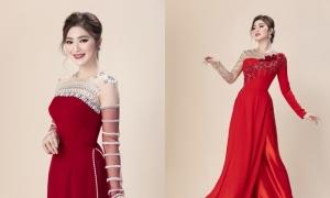 Thanh Trúc giảm 12 kg để làm mẫu áo dài cưới