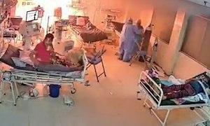Máy thở bệnh nhân Covid-19 bốc cháy