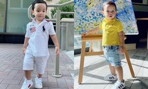 Phạm Hương chọn phong cách năng động cho con trai