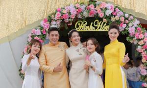 Lễ đính hôn tông vàng đồng của anh trai Khánh Vân