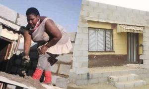 Nữ kỹ sư 26 tuổi tự trộn vữa xây nhà