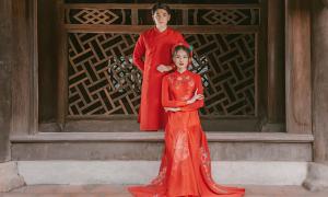Áo dài cưới 'Sắc phương đông' của NTK Quyên Nguyễn