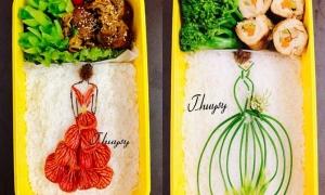 Vợ gửi 'chân dài' cho chồng ăn trưa mỗi ngày
