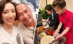 Thu Trang được chồng đãi vịt quay Bắc Kinh mừng sinh nhật