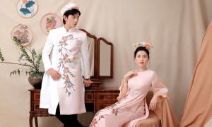 Áo dài đôi cách điệu cho mùa cưới cuối năm