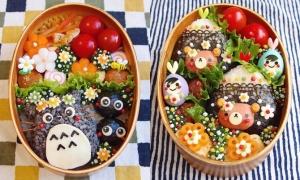 Hộp cơm bento đẹp như tranh vẽ của vợ Nhật