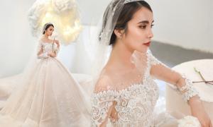Váy cưới xòe bồng phong cách quý tộc châu Âu