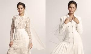H'Hen Niê hóa cô dâu với váy cưới phá cách