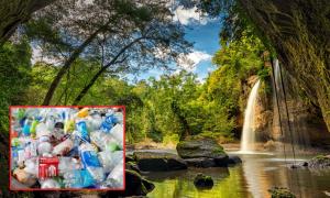 Công viên Thái Lan gửi trả rác cho khách vô ý thức