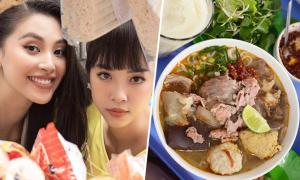 Tiểu Vy - Thúy An 'ăn bất chấp' đặc sản xứ Huế