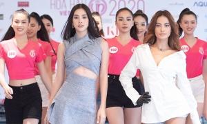Tiểu Vy, Như Vân thị phạm catwalk cho top 60 Hoa hậu VN