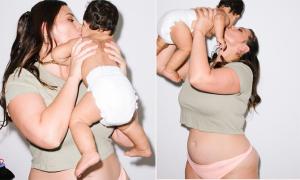 'Mẫu béo' Ashley Graham tự tin để lộ bụng rạn