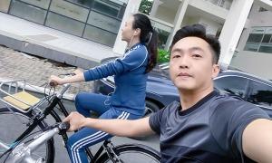 Ảnh sao 13/10: Vợ chồng Cường Đôla đạp xe dạo phố