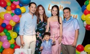 Vợ chồng Ngân Khánh mừng sinh nhật Dương Cẩm Lynh