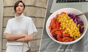 Bạn gái tin đồn của em chồng Hà Tăng chăm ăn Eat Clean