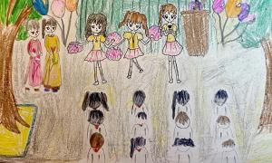 Trường học qua nét vẽ của bé