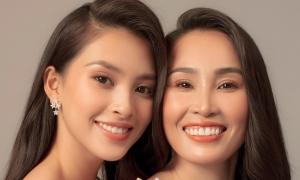 Hoa hậu Tiểu Vy hạnh phúc bên mẹ