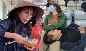 Sao Việt vất vả khi đi cứu trợ miền Trung