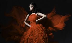 Bảo Hà khoe thần thái khi diện váy dạ hội voan