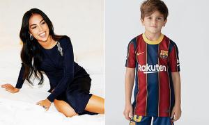 Bạn gái C. Ronaldo chúc mừng sinh nhật con trai Messi