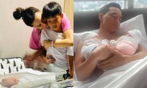 Subeo thăm hai em mới sinh