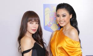 Đào Hà, Trà Ngọc Hằng vai trần đi xem show Thanh Huỳnh