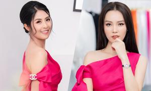 Ngọc Hân, Thụy Vân 'đụng' váy ở event