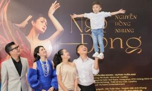 Nguyễn Hồng Nhung thích thú xem con trai Quốc Cơ làm xiếc