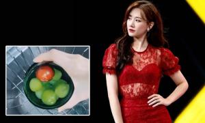 Hari Won ăn hoa quả thay cơm trưa để giảm cân