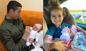 Nhà C. Ronaldo mừng sinh nhật con gái