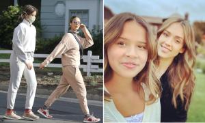 Con gái 12 tuổi cao hơn Jessica Alba