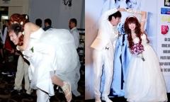 Lý Hải cõng Minh Hà ở đám cưới ngày xưa