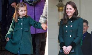 Những lần Công chúa Charlotte mặc đồ giống mẹ Kate