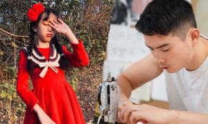 Ông bố trẻ tự học may, làm hơn 100 bộ váy cho con gái
