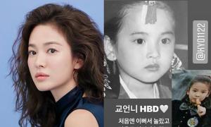 Song Hye Kyo đăng ảnh hồi bé dịp sinh nhật