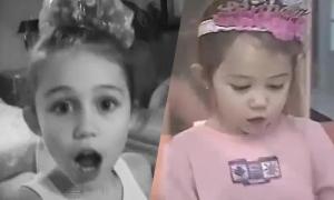 Miley Cyrus tiết lộ video tinh nghịch thời bé