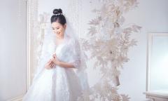 Trần Đình Thạch Thảo diện váy cưới công chúa