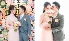 Thiếu gia Phan Thành hôn Primmy Trương trong lễ ăn hỏi